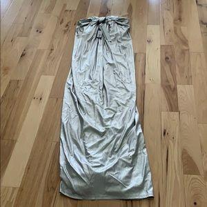 Silver Halston evening gown
